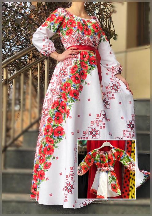 Set rochii stilizate traditional cu motive florale [0]