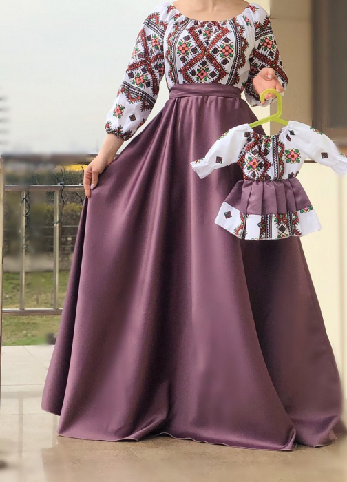 Set rochii stilizate traditional Mama si Fiica model 3 [0]
