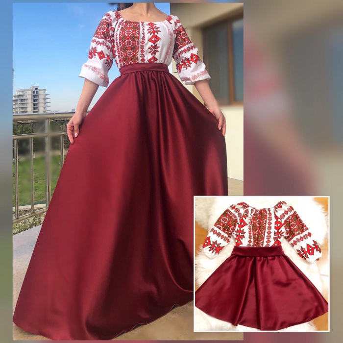 Set rochii stilizate traditional -Mama si Fiica - model 8 [0]