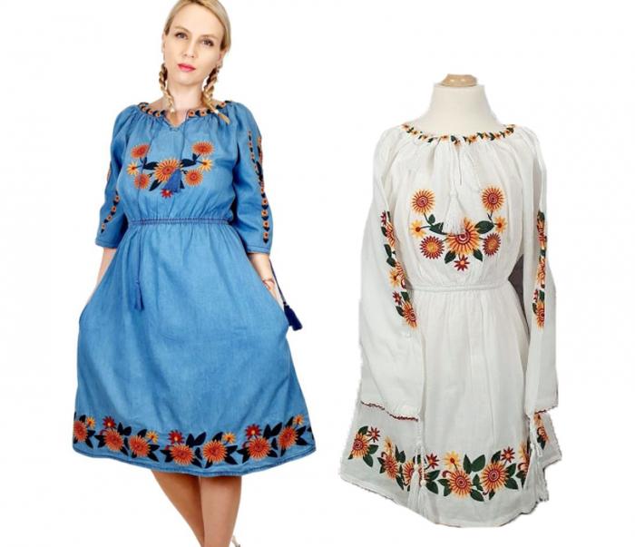 Set rochii traditionale Mama - Fiica - Floarea Soarelui [0]