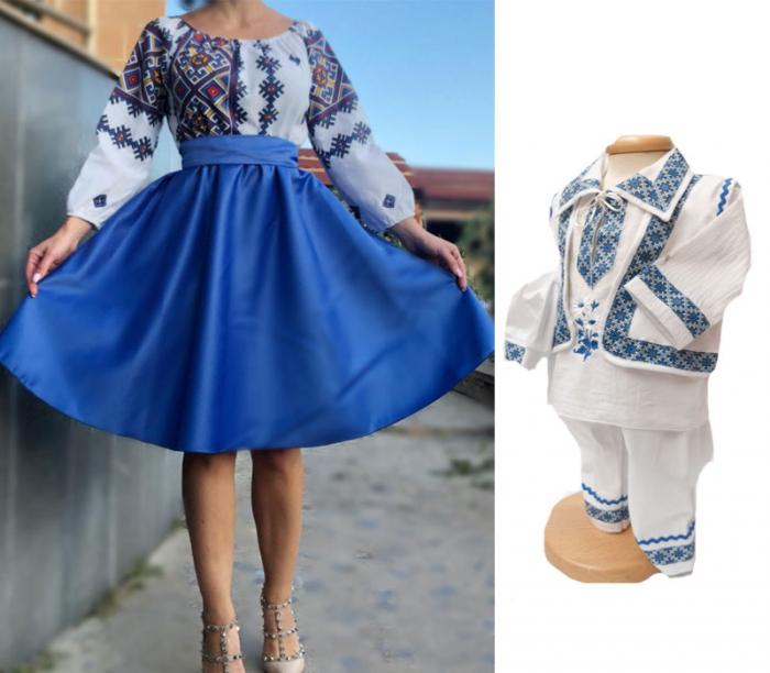 Set traditional Mama - Fiu - albastru [0]