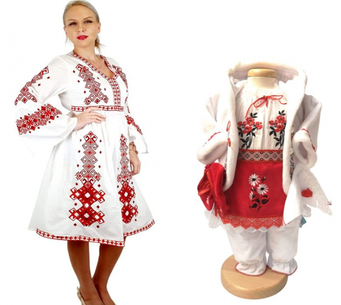 Set Mama si Fiica – 75 / Rochie traditionala si costumas traditional [0]