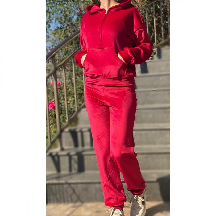 Trening dama rosu din catifea [2]