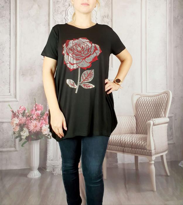Tricou negru cu strasuri 2 [1]