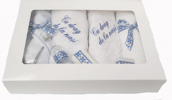 Trusou Botez Brodat cu fir albastru [1]