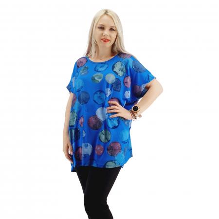 Bluza cu imprimeu cerculete [3]