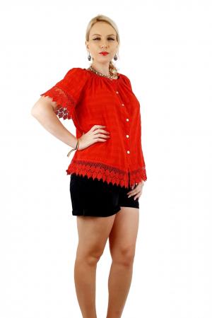 Bluza Dama din bumbac - rosu [2]