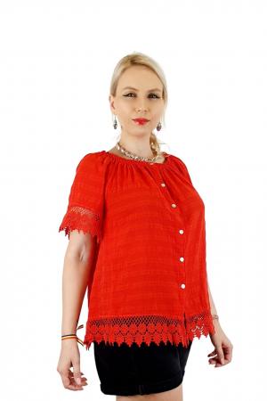 Bluza Dama din bumbac - rosu [1]