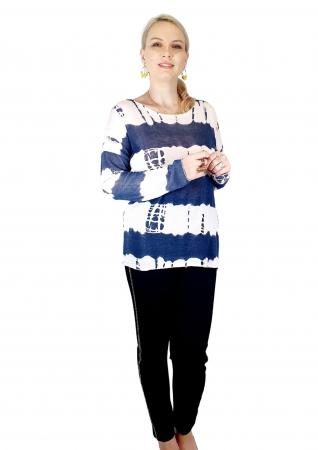 Bluza de dama cu imprimeu, maneci lungi (3) [1]