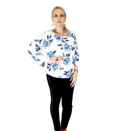 Bluza de dama cu imprimeu, maneci lungi (7)2