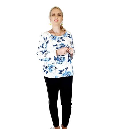 Bluza de dama cu imprimeu, maneci lungi (7)1