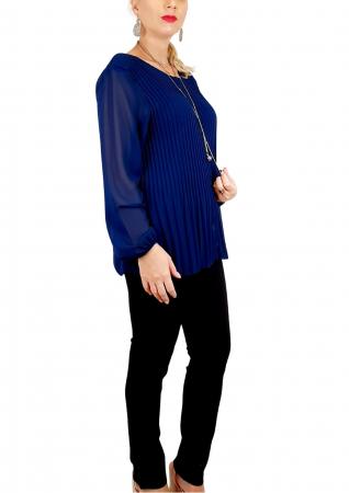 Bluza plisata Bleumarin Camelia 2 [1]