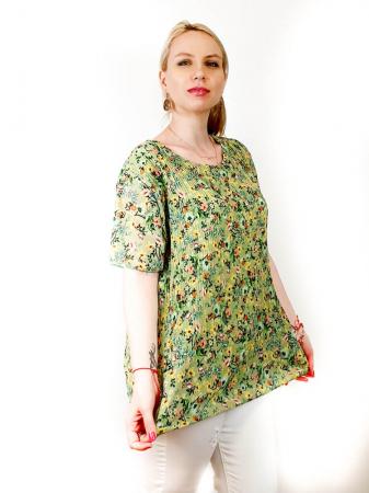 Bluza Plisata cu Floricele - Marieta [6]