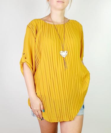 Bluza plisata Galben Camelia 3 [1]