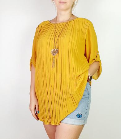 Bluza plisata Galben Camelia 3 [0]