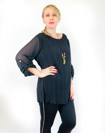 Bluza plisata Neagra Camelia [1]