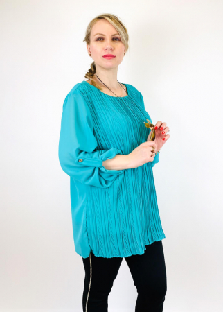 Bluza plisata Turqouise Camelia [1]