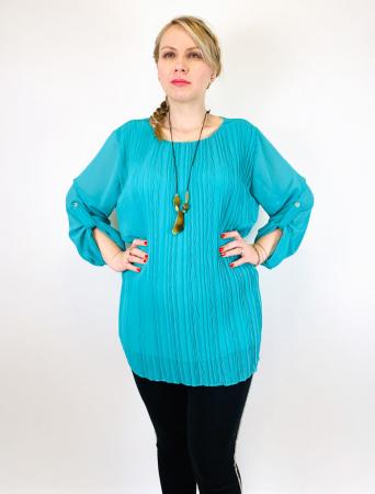 Bluza plisata Turqouise Camelia [2]