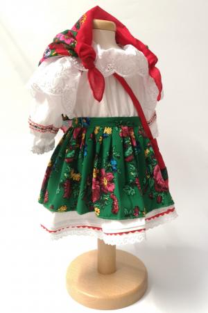 Costum Traditional Fetite Verde – 4 piese (1-6 ani )1