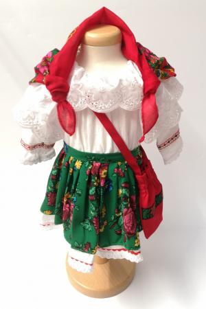 Costum Traditional Fetite Verde – 4 piese (1-6 ani )2