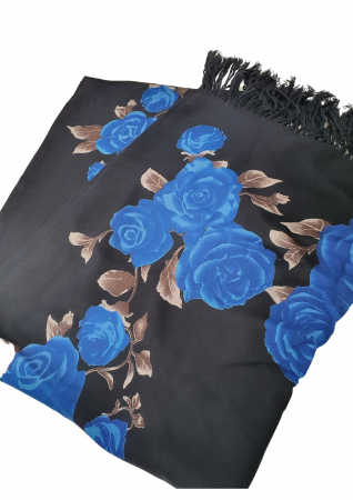 Esarfa etno mare negru Trandafir 3 [1]