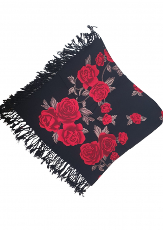 Esarfa etno mare negru Trandafir 2 [0]