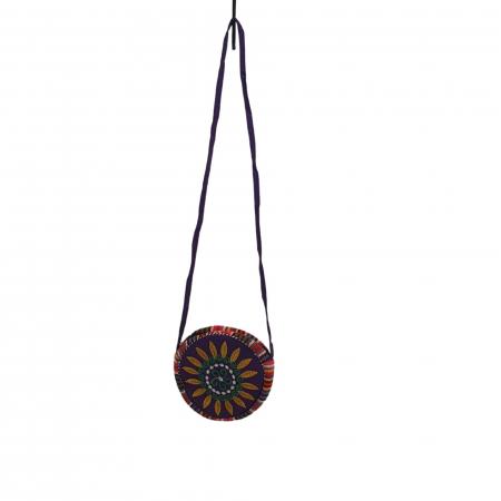 Geanta stilizata cu motive traditionale cu floare 4 [0]