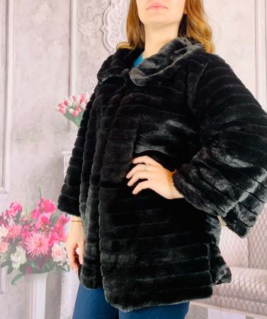 Jacheta din blana sintetica - negru [1]