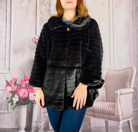 Jacheta din blana sintetica - negru [0]