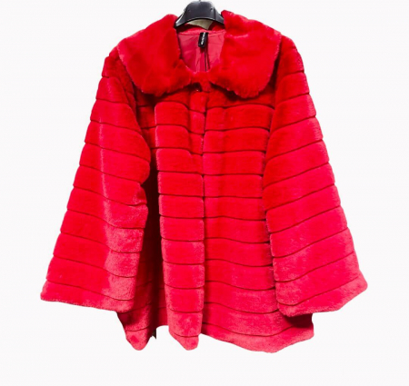 Jacheta din blana sintetica - rosu [1]