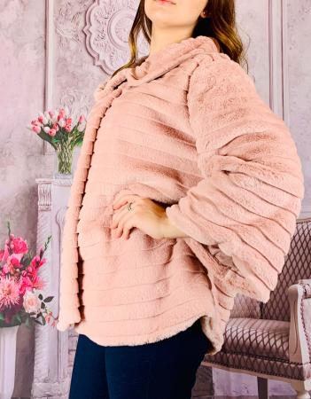 Jacheta din blana sintetica - roz [1]