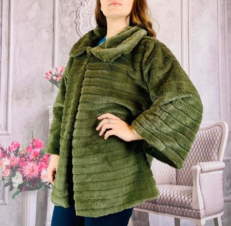 Jacheta din blana sintetica - verde [1]