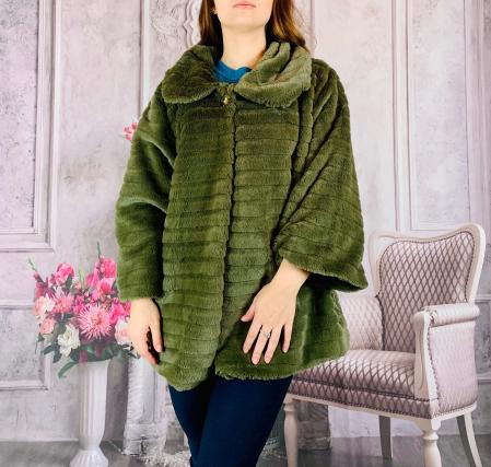 Jacheta din blana sintetica - verde [0]