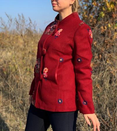Palton brodat Amelie Bordo [1]