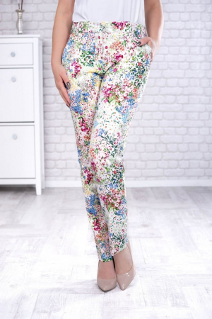 Pantaloni eleganti cu motive florale [0]