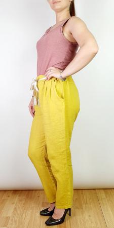 Pantaloni lungi din in - Galben II [1]