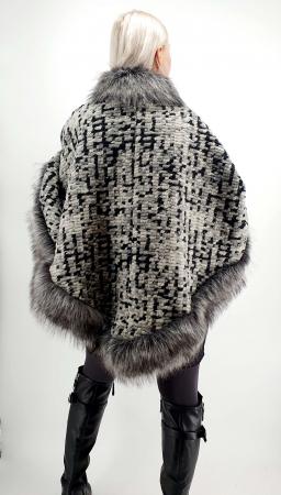 Poncho din lana cu blanita Sanda 9 [3]