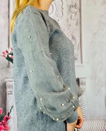 Pulover Dama - Maneci Bufante - Gri [1]