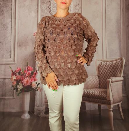 Pulover dama tricotat 3D - Sorana [0]