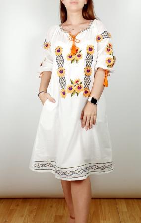 Rochie Traditionala Brodata Floarea Soarelui [0]
