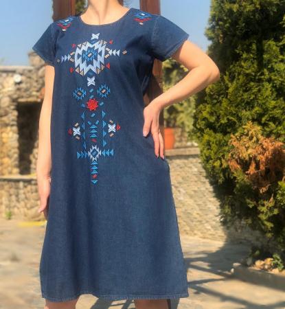 Rochie Traditionala din denim Sanda [1]