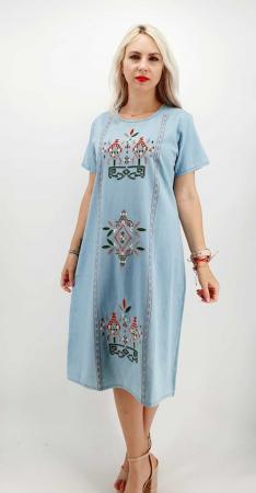 Rochie din Denim traditionala Marita [3]