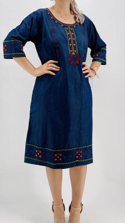 Rochie din Denim traditionala Sanda 53 [2]