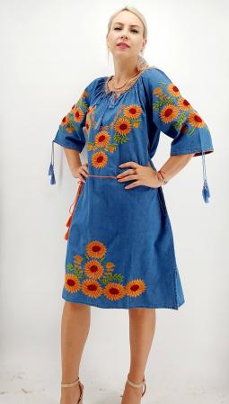Rochie din Denim traditionala Priscilla [5]