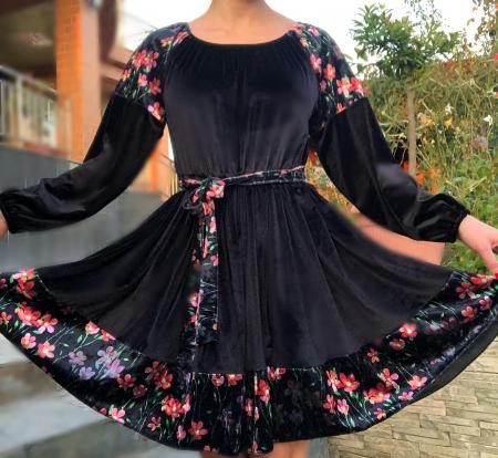 Rochie eleganta din catifea [2]