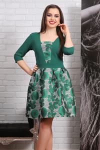 Rochie Eleganta cu Motive Florale Sienna [1]