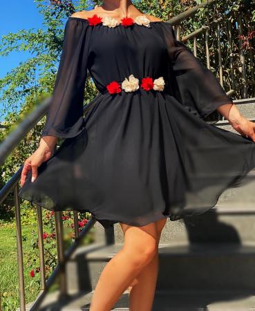 Rochie eleganta din voal Mioara 4 [1]