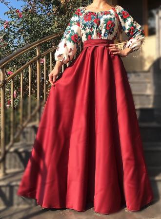 Rochie stilizata cu motive traditionale cu bujori 17 [0]