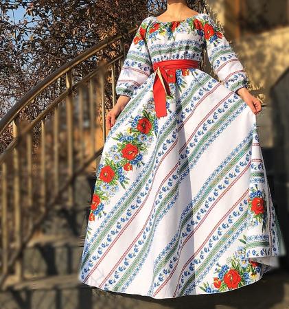 Rochie Traditionala stilizata cu maci 4 [1]