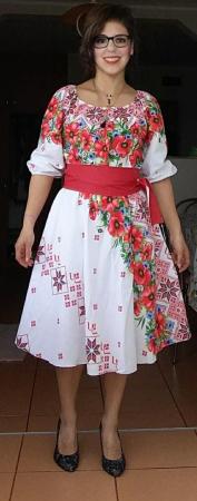 Rochie Traditionala stilizata cu maci [3]